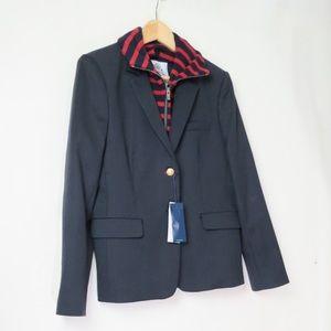 NWT Facconable navy dicky blazer jacket
